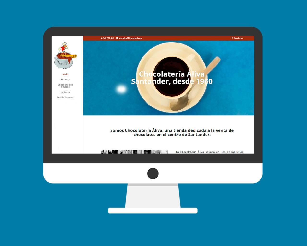 Diseño página web Chocolatería Áliva Santander