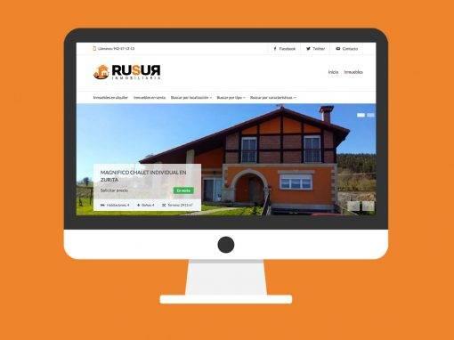 Diseño Web Rusur Inmobiliaria