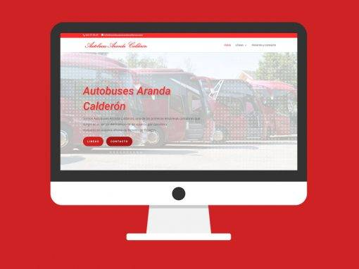 Página Web Autobuses Aranda Calderón