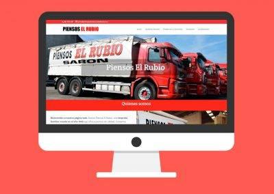 Página Web Piensos El Rubio
