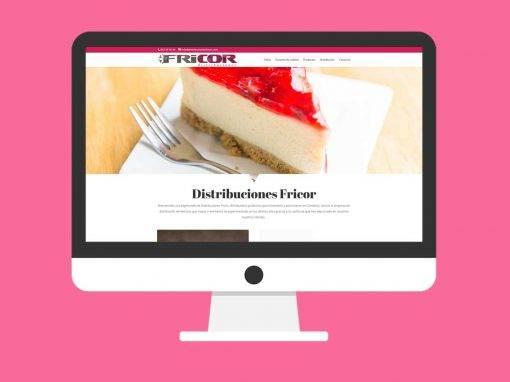 Página Web Distribuciones FRICOR Cantabria