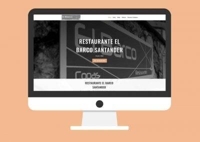 Página Web Restaurante El Barco Santander