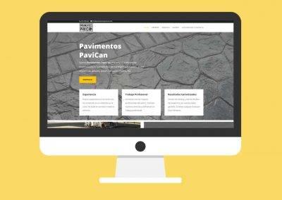 Página Web Pavimentos PAVICAN