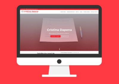 Página Web Cristina Dapena Procurador
