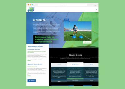 Página Web Alonbalon