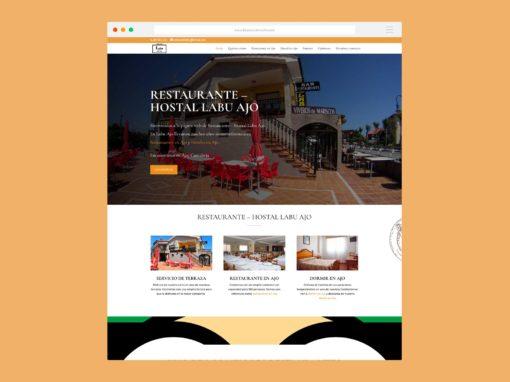 Página Web Restaurante Hostal Labu Ajo