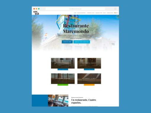 Página Web Restaurante Maremondo