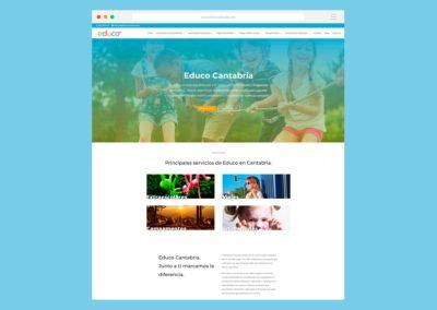 Página Web Educo Cantabria